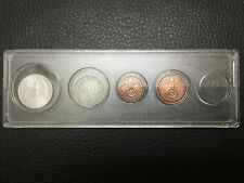 WWII Nazi Germany Third Reich Coins Set Swastika and big eagle with display case