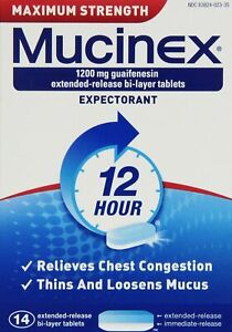 14 Mucinex Maximum Strength 1200 Mg Tablets - Free EU Shipping Made in the UK