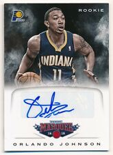 ORLANDO JOHNSON 2012/13 PANINI MARQUEE RC ROOKIE AUTOGRAPH PACERS AUTO SP