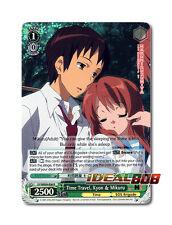 Weiss Schwarz  x 4 Time Travel, Kyon & Mikuru [SY/WE09-E06 R (FOIL)] English