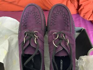 Womens Underground Wulfrun Creepers Lace Up Goth Retro Shoes Suede UK Sizes 8