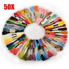Lots 50 DMC Cross Stitch Cotton Embroidery Thread Floss Sewing Skeins Craft DIY