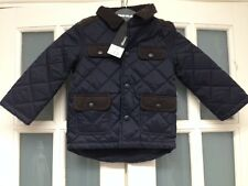 BNWT GEORGE BOYS PADDED/CORD NAVY/BROWN JACKET AGE 1-1.5 & 1.5-2 Yrs
