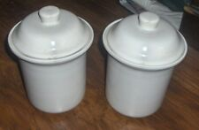 Kitchen Cannister Set Bone White Set Of 2 Kitchenware Storage Organizers