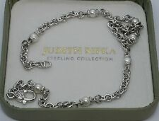 """JUDITH RIPKA STERLING 16"""" CULTURED FW WHITE PEARL STATION NECKLACE"""