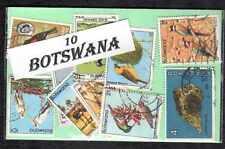 Botswana 10 timbres différents oblitérés