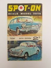 Tri-ang SPOT-ON SCALE MODEL TOYS fold out CATALOGUE 6th SIXTH EDITION RARE
