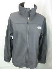 THE NORTH FACE SIZE M MENS BLACK FULL ZIP NO HOOD OUTDOOR SOFTSHELL JACKET T970