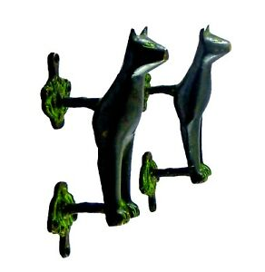 Cat Vintage Antique Style Handmade Brass Wardrobe Drawer Door Pull Handle Knob