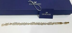 """Swarovski Louison Gold Tone Bracelet Clear Crystals with Extender 6 3/8"""" 5505863"""
