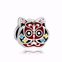 Multi-Color Enamel Silver Cute Animal Bead Fit 925 Sterling Charm Bracelet Chain