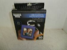 Sharper Image Digital Photo Keychain Purple New !!!