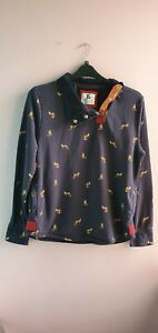 Blue Jumper With Fox Print And Pockets Size 16 By TU