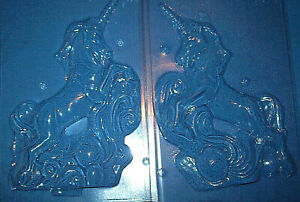 LARGE 3 DIMENSIONAL UNICORN CHOCOLATE MOULD OR PLASTER MOULD - 2 piece set