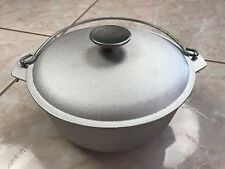 2 quart outdoor Cookware Cast Aluminum pot camping Dutch Oven lid kazan cauldron