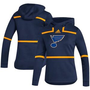 St. Louis Blues adidas Women's Large Under the Lights AEROREADY Pullover Hoodie