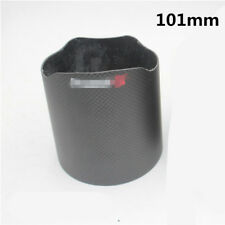 100% Carbon Fiber Car Exhaust Tip Shell Cover Sheath Muffler Pipe Shroud 101mm