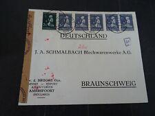Nederland 374 5x, 377 op brief van Amersfoort - Braunschweig 1941 Geoffnet