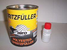 Polyester Spray Filler Blanc 1 l y compris Durcisseur 1.5 kg 2K Primer