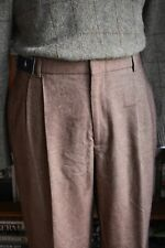 Lovely Vintage Polo Ralph Lauren Double Pleated Tweedy Cotton Trousers Size 38
