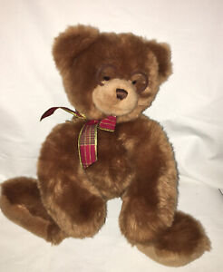 "12"" Gund Booker Plush Teddy Bear Stuffed Animal with Glasses and Bow 44406"