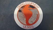 Adesivo Sticker DIVING EQUIPMENT ULIXES diametro cm 10,5 circa
