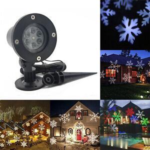 Moving Snowflake Christmas Projector Light LED Garden Outdoor Landscape Lamp CDO