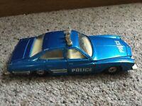 "Corgi Toys 6"" Blue BUICK REGAL Diecast POLICE Car Vintage 70's 1/ 36 Scale"