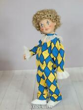 Helen Kish1999 Blue Pierette Hand Painted Doll Head with Doll Body Diy