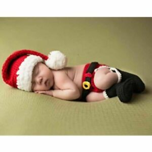 Newborn baby Boys Girls Hat Set Kids Christmas Clothes Outfits Photography Shoes