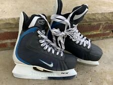 Nike Hockey Ice Skates Boy Size 6 Youth Nj Black White Foot 9� Nj