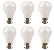 6x Clearance Sylvania LED frosted GLS light bulb 7W B22 BC 806lm 2700k
