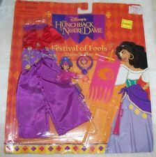 Disney Hunchback Mattel Festival of Fools Esmeralda Barbie 11.5 doll sealed