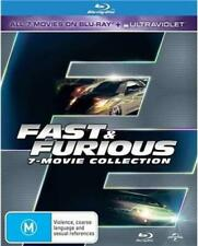 FAST AND FURIOUS 1 - 7 Movie Collection (Blu-ray, 2015, 7-Disc Set) NEW