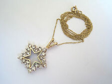"10K Champagne Diamond Star 3/4 CTW (SI3-SI1) Pendant 18"" Chain Signed PR .75"