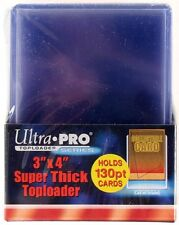 40 Ultra Pro 130pt 3x4 Super Thick Toploaders toploader New top loaders Jersey