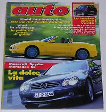 AUTO 9/2001 VW GOLF TDI GTI - MERCEDES C 220 CDI SPORTCOUPE - RENAULT SCENIC RX4