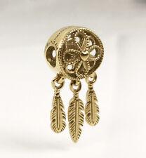 Genuine PANDORA Spiritual Dreamcatcher Charm 14K Gold Vermeil 797200