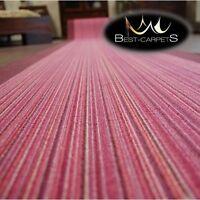 Runner Rugs, CARNABY purple NON-slip, Modern, strips Width 67cm-100cm extra long