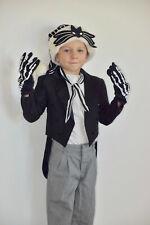 Kids Jack Skellington Halloween Costume Size 4T Jacket Hat Pants Boys Child