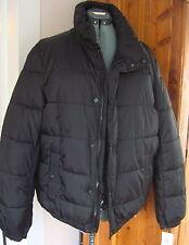 New Men's Levi's Black LS Puffer Jacket L Stand Collar Zip Snap Front Pockets