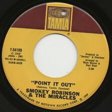 SMOKEY ROBINSON & THE MIRACLES point it out*darling dear 1969 US TAMLA 45