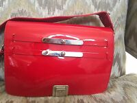 Vintage Versace Red Patent Leather Bag 100% Authentic