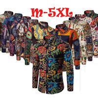Mens Luxury Floral Shirts Casual Formal Slim t Shirt Top M L XL 2XL 3XL 4XL 5XL