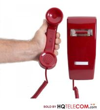 No Dialpad, No Dial Receive-Only Wall-mounted Red Phone with Ringer