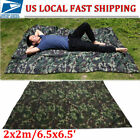 Waterproof Camping Shelter Lightweight Rain Fly Tent Tarp-Camouflage Color