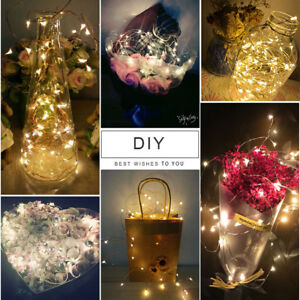 LED Copper Wire String Fairy Light Strip Lamp Xmas Party Waterproof Party Decor.