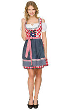 Bavarian Dirndl Traditional Costume Oktoberfest German Beer Maid Dress up 34-42