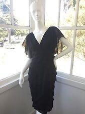 Adrianna Papell Little Black Cocktail Summer Dress-Size 8 Celebrity Favorite