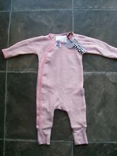 BNWT Baby Girl s Bonds Pink Towelling Cozysuit Coverall Size 000 5d957ad4e41a